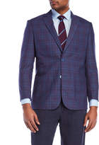 English Laundry Purple Plaid Sport Coat