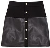 Pinc Premium Girls' Faux Leather Trimmed Skirt - Sizes S-XL
