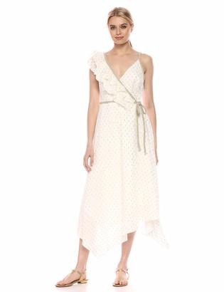 BCBGMAXAZRIA Azria Women's Asymmetric Midi Wrap Dress