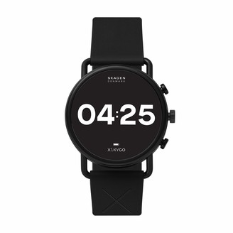 Skagen Connected Falster 3 Gen 5 Stainless Steel and Silicone Touchscreen Smartwatch Color: Black (Model: SKT5202)