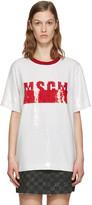 MSGM White Sequinned T-Shirt Blouse