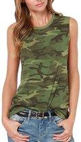 Muke Women's Military Camo tank top Camouflage Sleeveless T-shirt Elastic Vest (L, )