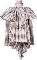 Rosie Assoulin checkered ruffled blouse - women - Cotton/Spandex/Elastane/Viscose - S