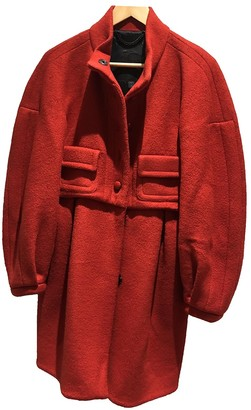 Burberry Red Wool Coat for Women