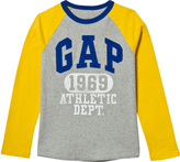 Gap Grey Heather Long Sleeve Raglan Tee