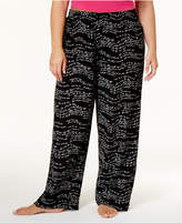 Hue Plus Size Wavy Script Cotton Pajama Pants