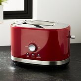 Crate & Barrel KitchenAid Red 2-Slice Toaster