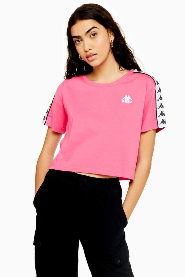 top-rated discount dirt cheap large assortment Womens Banda Tape Crop T-Shirt By Pink