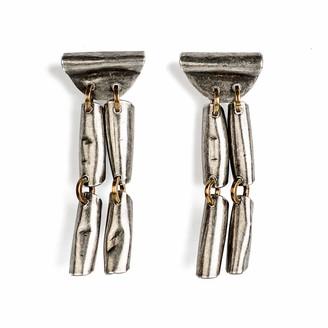 Michelle Ross Mari Earrings Antique Silver