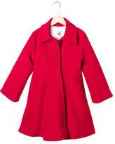 Helena Girls' Bouclé Knit Dress Coat