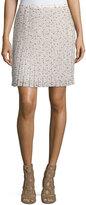 See by Chloe Printed Plisse Skirt, Pink/Multi