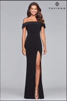 Faviana Classic Black Gown