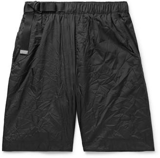 Nike Sportswear Tech Pack Webbing-Trimmed Belted Crinkled-Nylon Shorts