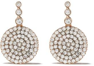 Selim Mouzannar 18kt rose gold diamond Beirut earrings