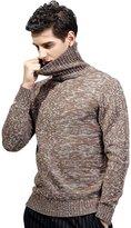 Insun Men's Turtleneck Slim Fit Ribbed Pullover Sweater