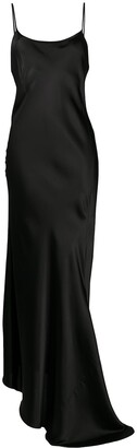 Ann Demeulemeester Asymmetric Draped Slip Dress