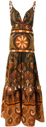 Johanna Ortiz Panelled Backless Dress