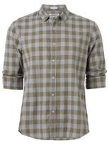 Jeanswest Atticus Long Sleeve Check Shirt-Deep Olive Multi-S