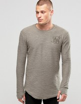 SikSilk Flannel Long Sleeve T-Shirt