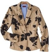Merona Women's Oxford Blazer - Brown Floral