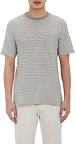 Officine Generale Men's Slub Purl-Stitched T-Shirt-GREY