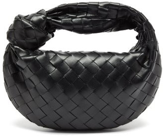 Bottega Veneta The Jodie Mini Intrecciato Leather Clutch Bag - Black