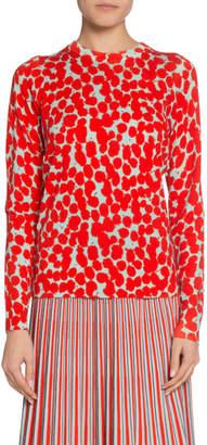 Proenza Schouler Spotted-Print Crewneck Sweater