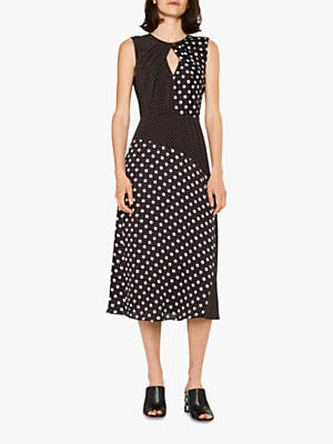Paul Smith Sleeveless Mixed Spot Dress, Black/White