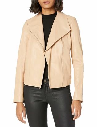 Cole Haan Women's Leather Moto Jacket