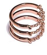 Pamela Love Women's 14ct Rose Gold Plated Sterling Silver Three Passages Ring - Size O