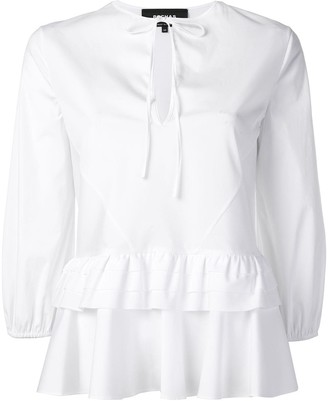 Rochas Tiered Peplum Shirt