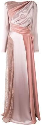 Talbot Runhof flared panelled gown