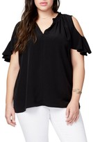 Rachel Roy Plus Size Women's Vanessa Cold Shoulder Top