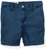 Ralph Lauren Cotton Denim Straight-Leg Shorts, Justin Wash, Size 2-4
