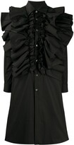 Comme des Garcons ruffle-trimmed shirt dress