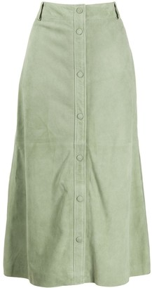 Arma Button Front Skirt