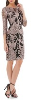JS Collections Women's Embroidered Lace Cocktail Dress