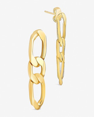 Express Sterling Forever Linked Chain Drop Stud Earrings