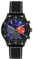 Ted Baker Mens Gunmetal Tone Watch with Multi Color Chronograph Dial