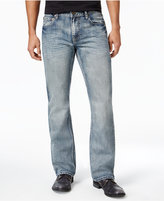 INC International Concepts Men's Slim-Fit Boot-Cut Faded Jeans, Only at Macy's