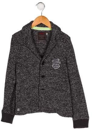 Catimini Boys' Knit Button-Up Blazer