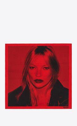 Rive Droite Squared Scarves Self Service Kate Moss Square Scarf In Silk Red Onesize