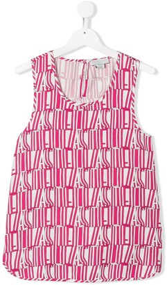 Stella McCartney TEEN Stella Type print top