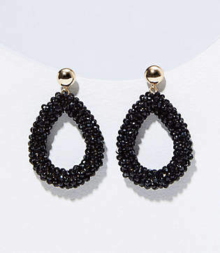 LOFT Beaded Teardrop Earrings