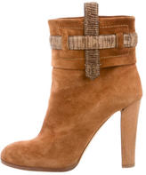 Reed Krakoff Suede Round-Toe Ankle Boots