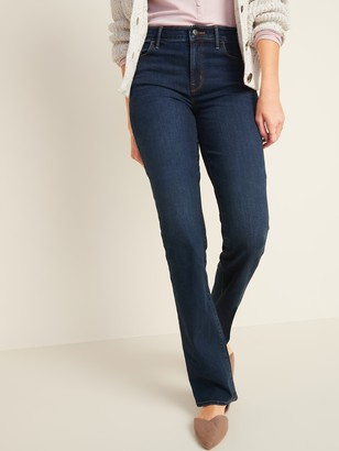 Old Navy Mid-Rise Dark-Wash Kicker Boot-Cut Jeans for Women