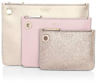 Kate Spade Metallic Leather Pouch Trio