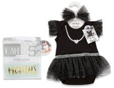 Baby Aspen Infant My First Party Dress, Headband & Milestone Blocks Set