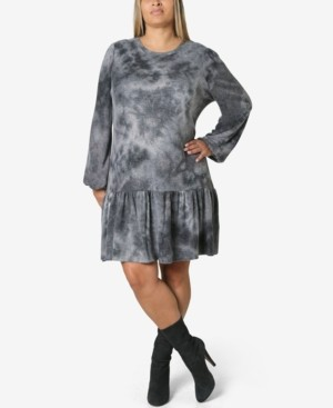 Thumbnail for your product : Ultra Flirt Trendy Plus Size Tie-Dyed Dress