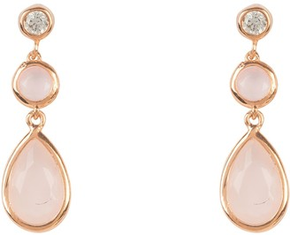 Latelita Tuscany Gemstone Drop Earring Rose Gold Rose Quartz